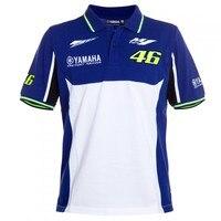 HOT 100 Cotton Valentino Rossi VR46 M1 Racing Team Moto GP Polo Shirt For Yamaha VR