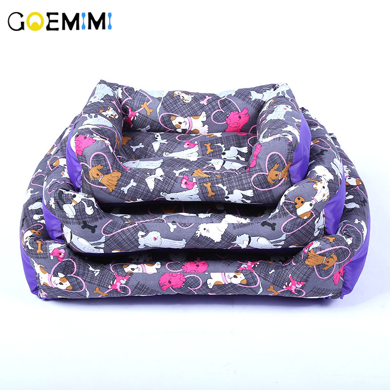 New Arrival Dog Print Bed Comfortable Wear Mat High Quality Puppy Pet Bed For Small Dog Cat Kennel Pet Products