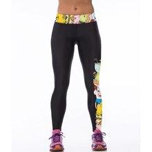Printed yoga леггинсы яркие спортивные леггинсы девушки запуск колготки женщины фитнес спортивная сексуальные сжатия брюки