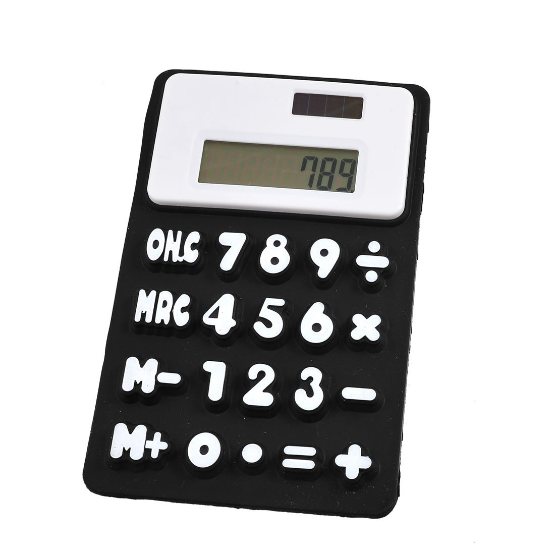 Durable Black White 8 Digits Refrigerator Magnetic Silicone Foldable font b Calculator b font
