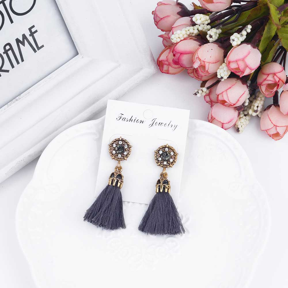 miscii bright img tassel earrings gold massive products deco orange product image
