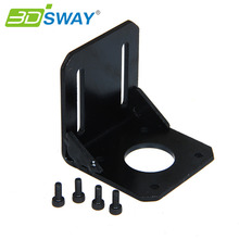 3DSWAY 3D Printer Accessories NEMA 17 Mounting L Bracket 42 Stepper Motor Bracket Steel Motor Mounts Stand with Screws(China)