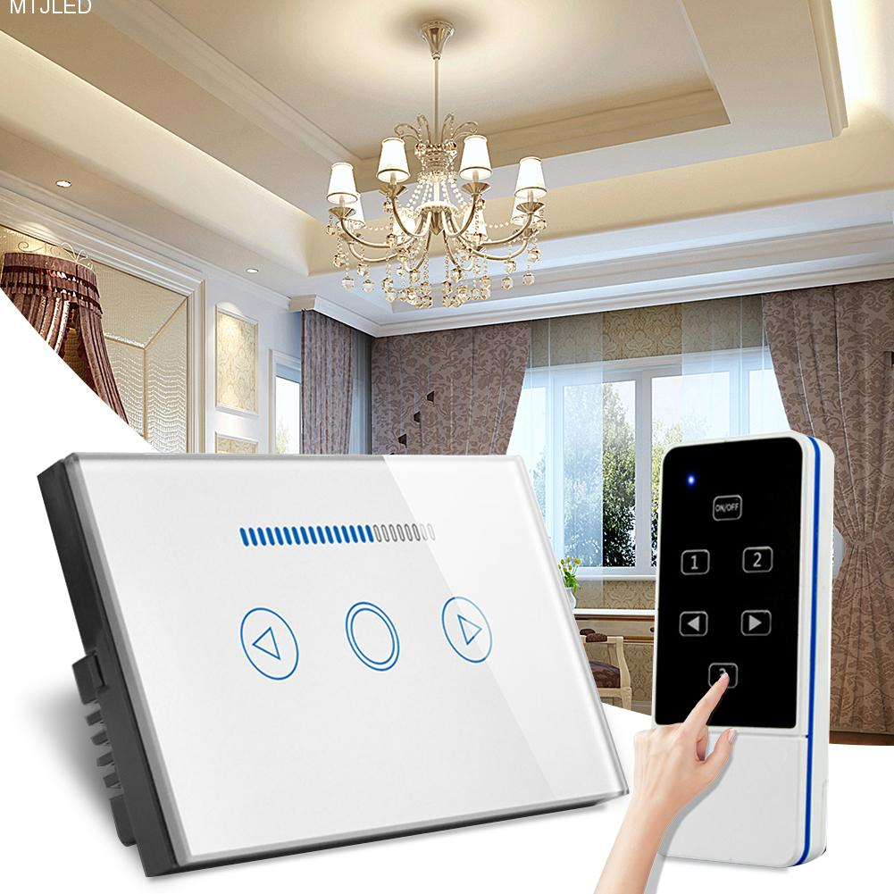 Kaigelin Smart Wireless Remote Control LED Dimming Switch US Plug Touch Glass Light Switch Touch Screen Smart Dimmer Switch laideyi 1pcs smart wireless led dimmer touch screen dimmer switch ac 110 240v remote control led dimming switch with us plug