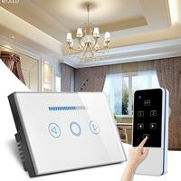 Kaigelin Smart Wireless Remote Control LED Dimming Switch US Plug Touch Glass Light Switch Touch Screen Smart Dimmer Switch