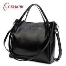 LY.SHARK bayan hakiki deri çanta omuzdan askili çanta kadın kadın çanta kadınlar için çanta 2019 kadınlar için Crossbody çanta
