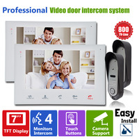 YSECU Video Doorphone Intercom Video Entry Security Systems For Door Answering Service 7 Inch White 800TVL
