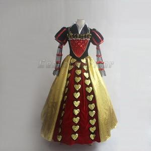 Image 3 - Film Alice im Wunderland cosplay Rote Königin der Herzen Kostüm Phantasie Kleid für erwachsene Cosplay Nach Maß