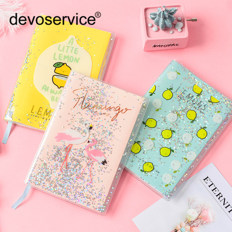 NEW Creative Dreamy Oil Sequins Notebook Student Notepad Stationery Portable Office Supplies School Stationery 80 Sheets Diary