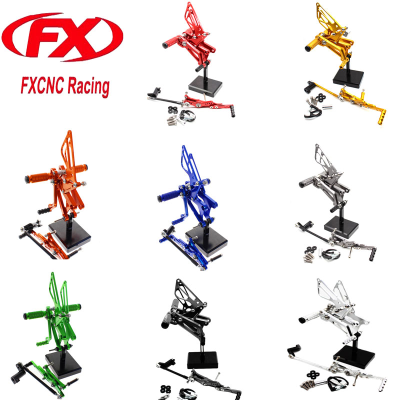 FX Motorcycle Foot Rests Rear Sets Foot Pegs for TRIUMPH DAYTONA 675R 2006 2007 2008 2009 2010 2011 2012 Rearset Accessories car rear trunk security shield shade cargo cover for hyundai tucson 2006 2007 2008 2009 2010 2011 2012 2013 2014 black beige