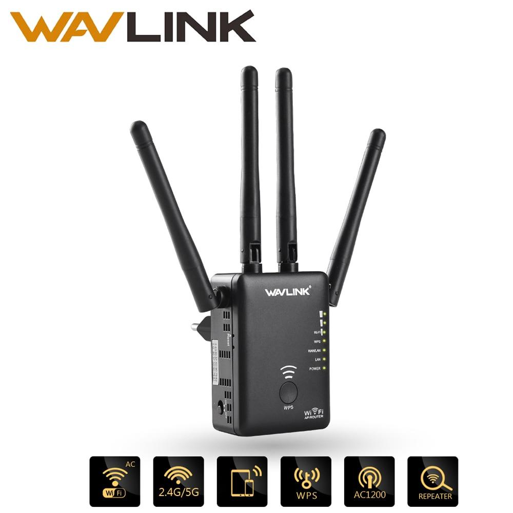 AC1200 Wavlink Repetidor WIFI/Router/ponto de Acesso Sem Fio Wi-Fi Extensor De Alcance wi-fi amplificador de sinal com Antenas Externas Quente