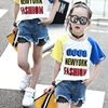 Summer Girls Set Jeans Teenage Clothing Denim Shorts Kids Girls T Shirt And Bottom Clothing Age
