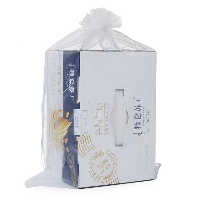 100 x extra large 35 50cm home organza storage bags drawstring