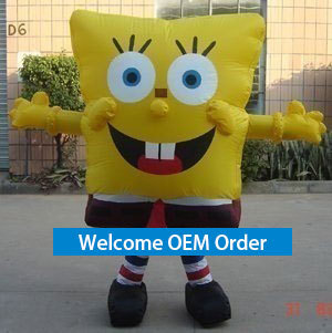 2m SpongeBob Shape Balloon as Party Decoration Funny Inflatable Advertising Balloons commercial 2m diameter hulium balloons multicolor floating inflatable balloons with logo for event