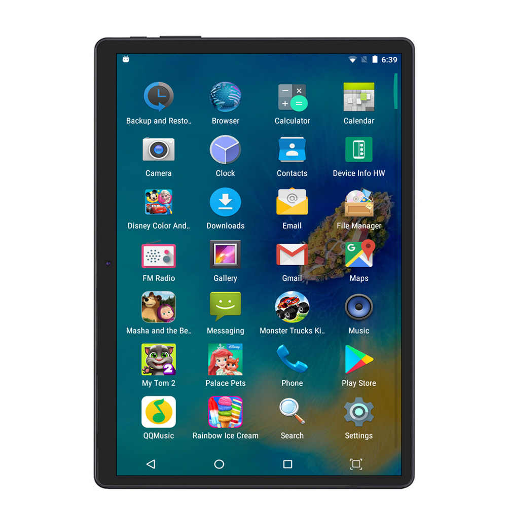 Baru 10.1 Inch Tablet PC Android 7.0 Desain Asli 4G/3G Telepon 4G + 64G Octa Core Wi-fi Bluetooth GPS IPS Tablet PC 10.8