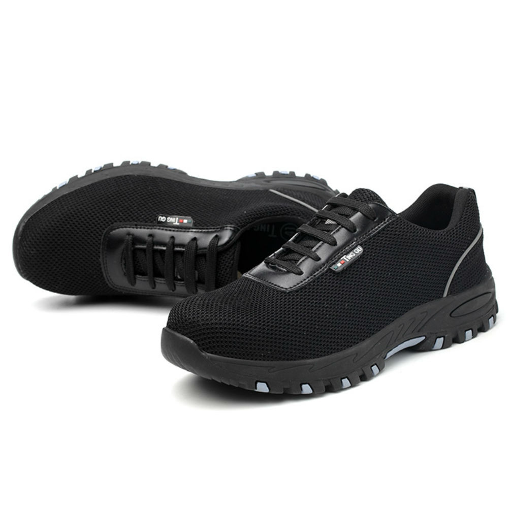 Sapatos de Segurança Do Dedo Do Pé De Sapato De Aço Inoxidável Dica AC13022 Calçado Sapatilhas Botas De Segurança do Trabalho Botas Respiráveis Leves Do Lado de Fora