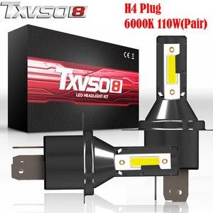 TXVSO8 2PCS LED H4 Car Light B