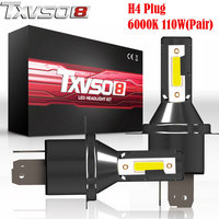 TXVSO8 2PCS LED H4 Car Light Bulbs Flip COB Chips 13000LM Pair 6000K (Pack of 2) Headlight Bulb 55W/Bulb Automobiles Headlamp