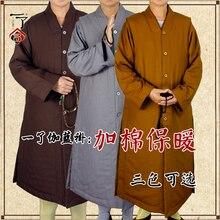 3 цвета утолщаются дзен-буддистское одеяние монах медитация зимнее платье монах спортивная одежда лежала буддистская одежда буддизм халаты жилет