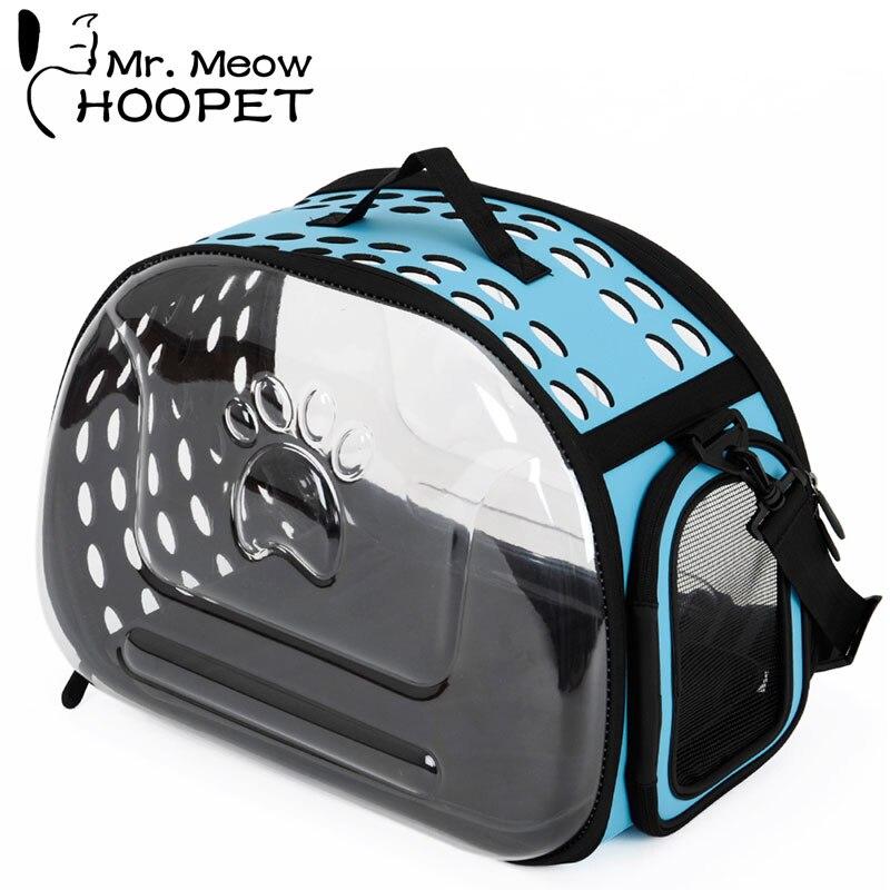 Hoopet animal de compagnie transporteur extérieur sac chien poignée sac de transport chat épaule sac à dos respirant transporteur