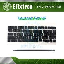 Pełna nowa klawiatura A1989 klawisze klawisze klawiatura US dla Macbook Pro 13 ''15'' klawiatura A1990 EMC 3124 EMC 3215 połowa 2018 rok w Zamienne klawiatury od Komputer i biuro na