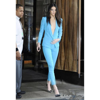 Women's new fashion casual suit two-piece suit (jacket + pants) ladies business office dress support custom