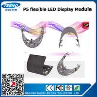 HOT SALE TEEHO P5 indoor SMD2121 flexible LED Display module soft display led panel creative LED display screen video wall