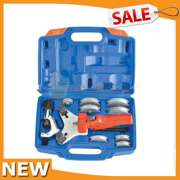 Refrigeration Tool Aluminum Tube Hand Pipe Bender Multi Copper Pipe Bender Tube Bending Tool Kit With Tube Cutter WK-666