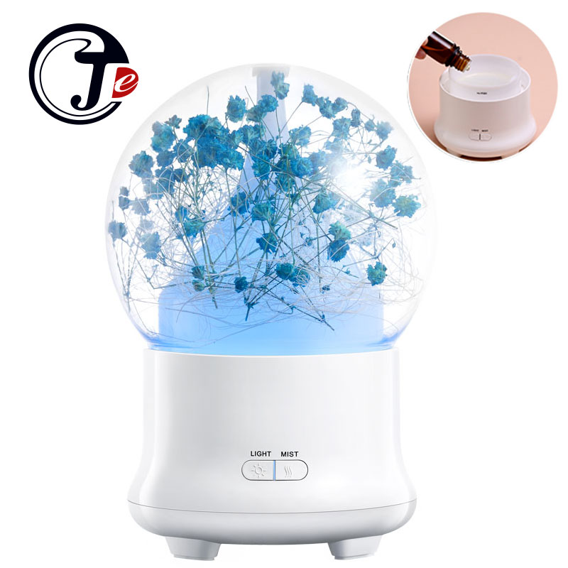 Immortal Flower Ultrasonic Humdifier Aroma Diffuser Essential Oil Aromatherapy for Home Appliances Air Freshener with LED Lamp immortal cd