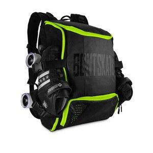 Image 5 - 100% Original Bont อินไลน์สเก็ตความเร็วกระเป๋าเป้สะพายหลัง 28L Professional Roller รองเท้าสเก็ตกระเป๋าผู้ถือหมวกนิรภัยป้องกันเข่า Pads กระเป๋า