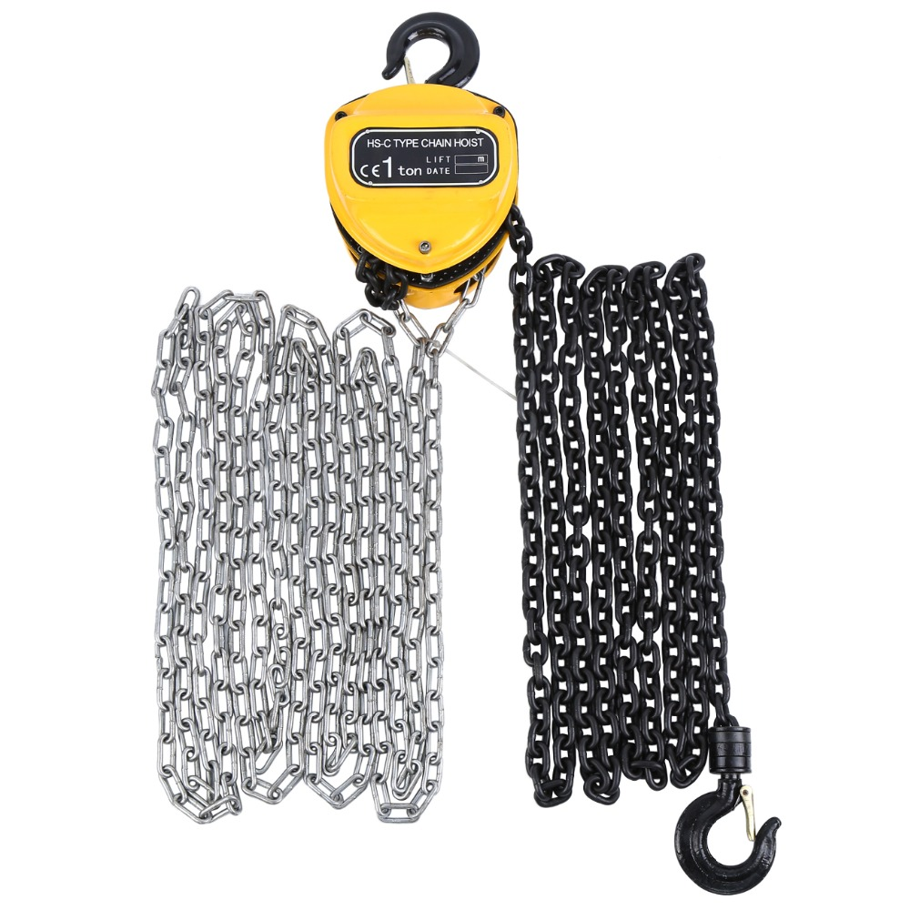 Hand Chain Hoist 1000 kg 4.2m Pulley Hoist Cable 1T Crane Manual Block Lift Pulley Lifting Tools