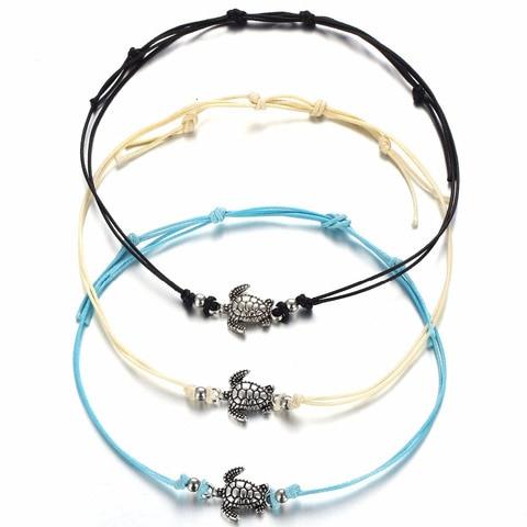 Купить многослойные браслеты на ногу для женщин и мужчин античный серебристый