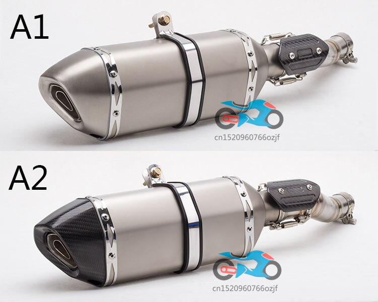 Systèmes d'échappement complets de moto en Fiber de carbone silencieux d'échappement lien tuyau moyen évasion pour CBR300rr lien tuyau couvercle