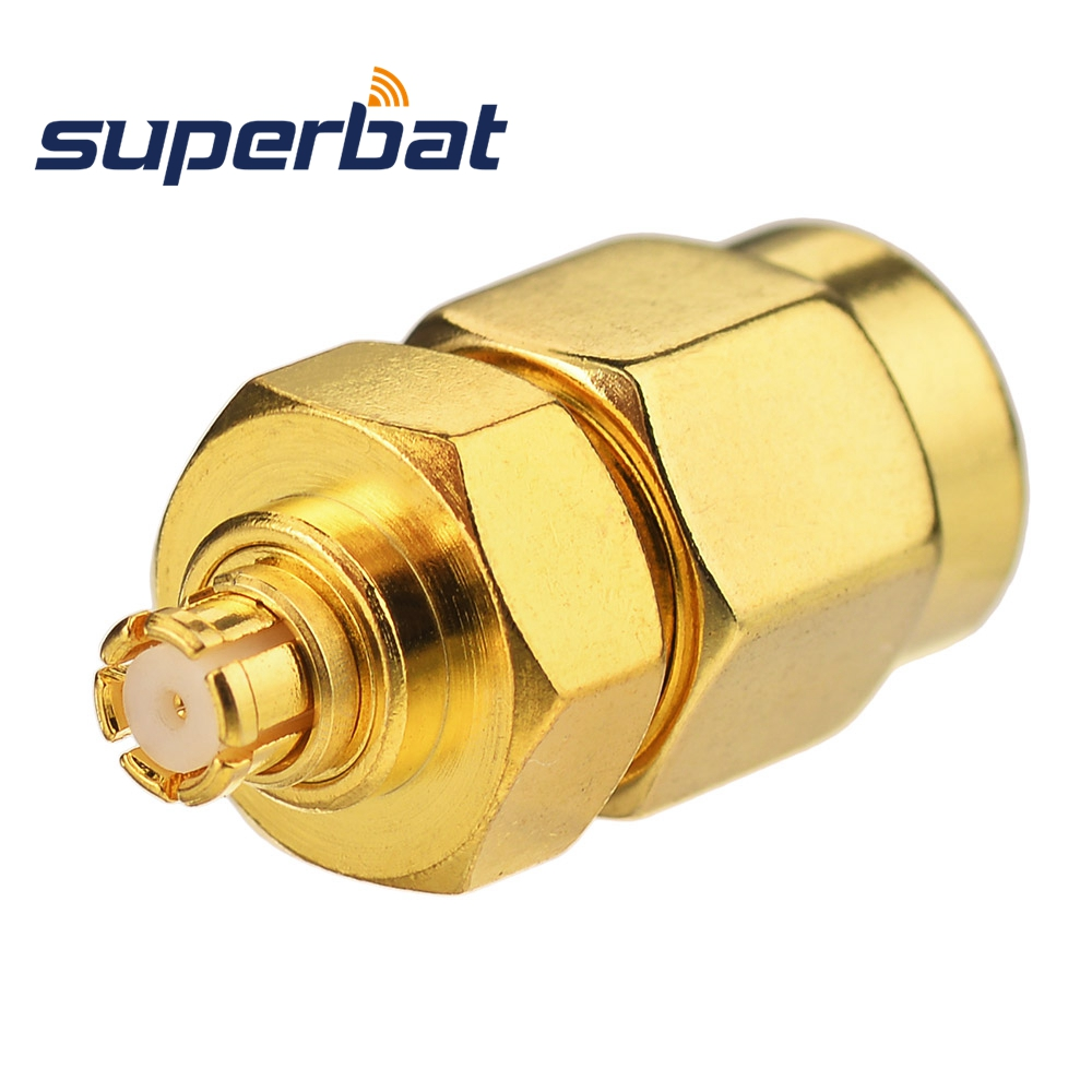 Superbat SMP Jack Female Adapter To SMA Straight Plug Male 50 Ohm RF Coaxial Adapter Connector