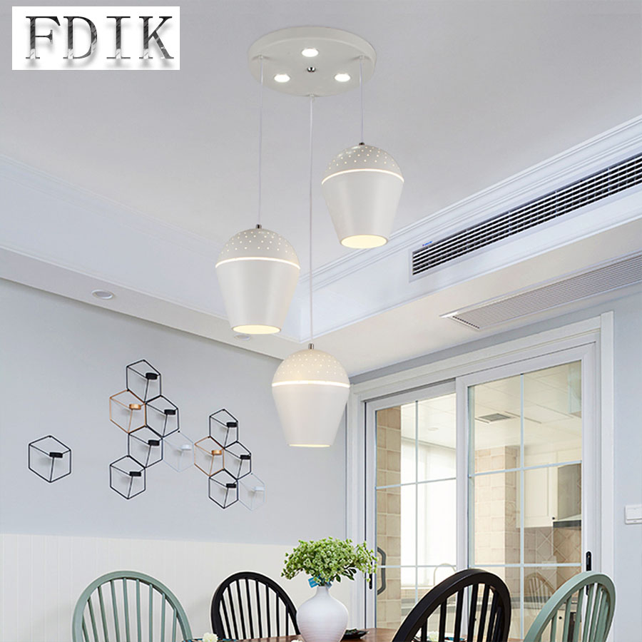 Nordic Post modern Dining room Bar counter LED Pendant Lights Personality Macaron Colorful three heads Pendant lamp Living room creative nordic stainless steel pyramid bar counter pendant light post modern diamond hotel dining room pendant lamp fixtures