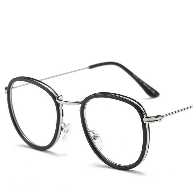 Round Vintage Leopard Gold Frame Glasses Computer Google Glasses ...