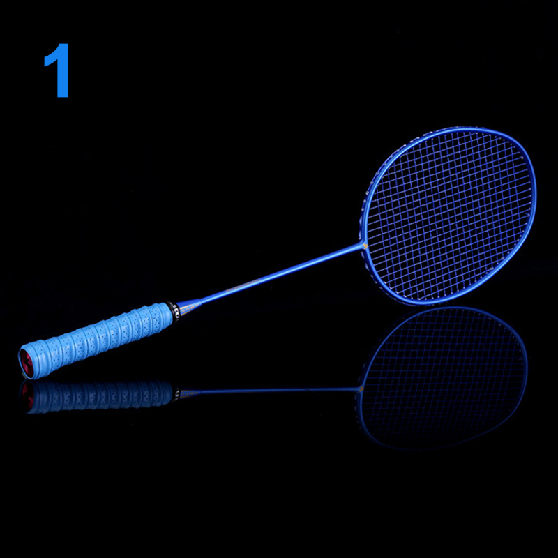High Quality Ultralight 6U Badminton Racket Professional Carbon Portable Free Grips Sports NCM99