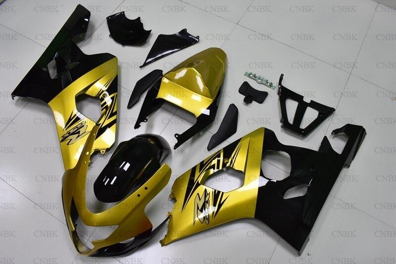 を gsx R 600 2004 2005 K4 フェアリングキット GSX R600 2004 ゴールド黒フルボディキット GSXR750 2005 ボディワーク未塗装  グループ上の 自動車 &バイク からの 楽器 の中 1