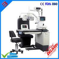 Optometria oftálmica lâmpada de fenda unidade de cadeira de mesa de rerfactor automático