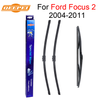 QEEPEI Front And Rear Wiper Blade For Ford Focus 2 26 17 2014 2011 Natural Rubber
