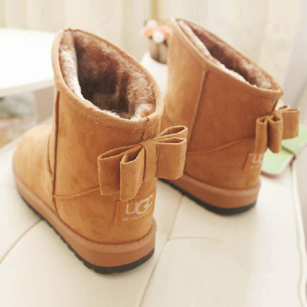 a52d60285cf botas mujer invierno 2015 winter women boots fashion bowknot short ankle  boots girls snow boots winter shoes motorcycle boots-in Snow Boots from  Shoes ...