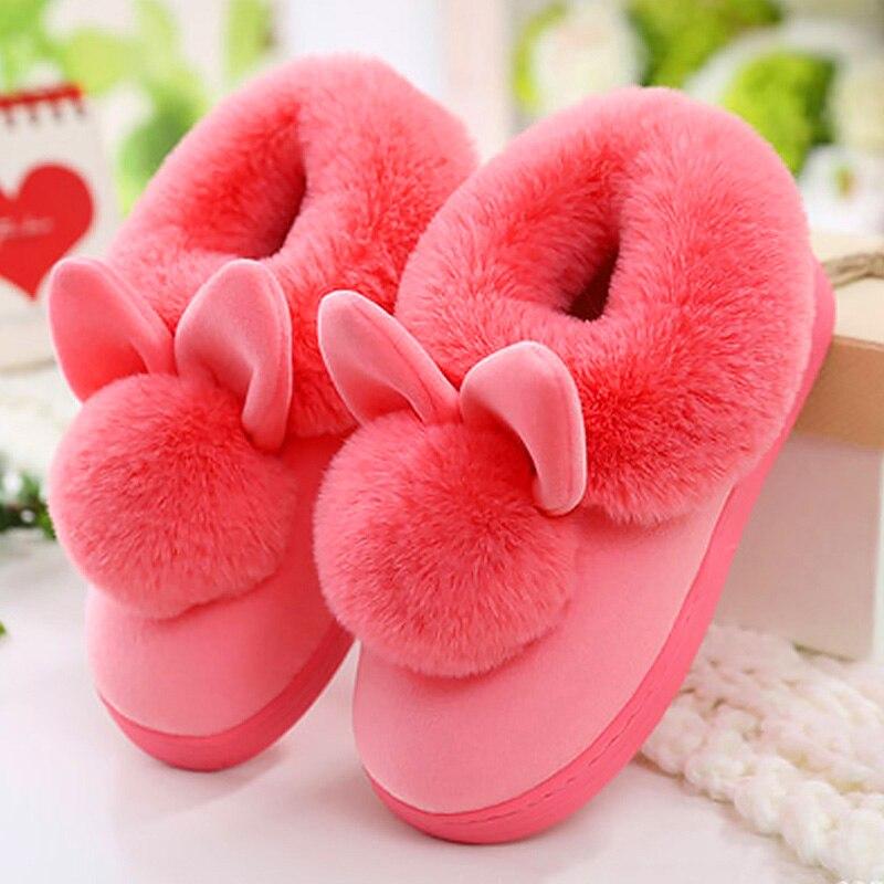 Домашние тапочки; короткая плюшевая обувь; женские зимние теплые домашние тапочки; Вельветовая обувь на плоской подошве с пушистым мехом кролика; zapatos mujer