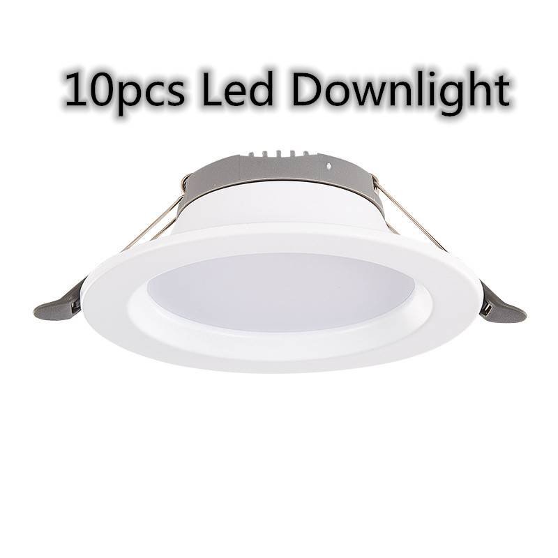 10pcs LED Down Lights Dimmable Waterproof 5W 7W LED Downlight Outdoor Leds Ceiling Lamp For Bathroom Kitchen Bulb Dropshipping