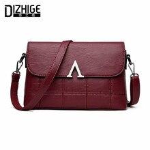 Dizhige модный бренд v письмо crossbody сумки женщин высокого качества сумки натуральная кожа овчины женщин сумки дизайнер