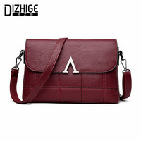 DIZHIGE Brand Fashion V Letter Crossbody Bags Women High Quality Genuine Leather Shoulder Bags Sheepskin Women