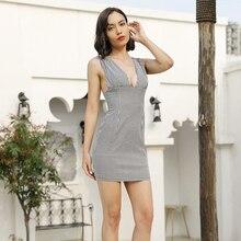 JYSS new trendy black white plaid dress girl spaghetti strap v neck slim dresses women for travalling vacation mini dress 81987 цена и фото