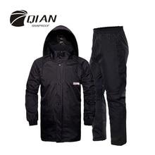 Qian à prova de chuva profissional ao ar livre capa de chuva escondida capa de chuva mais espessa malha forro de segurança reflexiva design de fita super rainsuit
