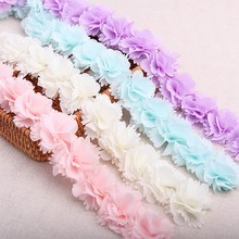 Lace Fabric 26PCS/Lot 7 Colors Lace Ribbon Polyester Flower Clothing Hat Decorate Garment Accessories Lace Fabric 1905011