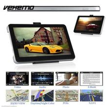 Vehemo 800MHZ Truck Navigator Automobile Car GPS Navigation Premium Music Player Vehicles Universal with Adapter