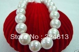 hot The noble fashion 14MM white shell Pearl Necklace #1179