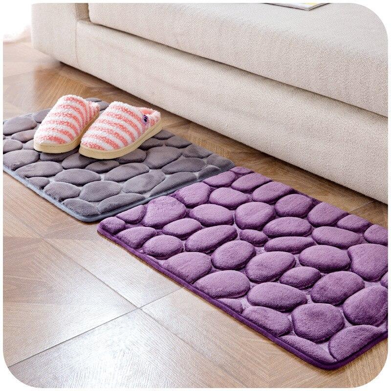 simple pebble rug bedroom door mat mat kitchen bathroom door absorbent mat 2 pieces grey